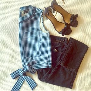 Cropped Gingham Top Designed By Timo Weiland